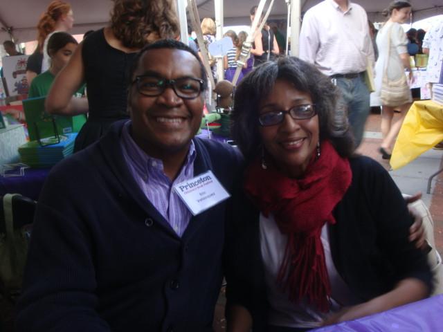 Eric and Elizabeth Velasquez at a recent book festival