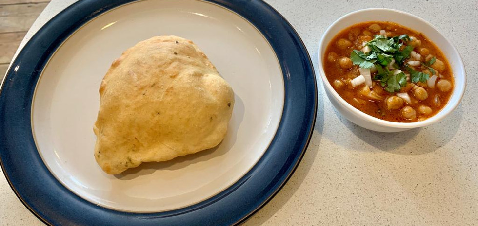 Poori and Chickpea Curry