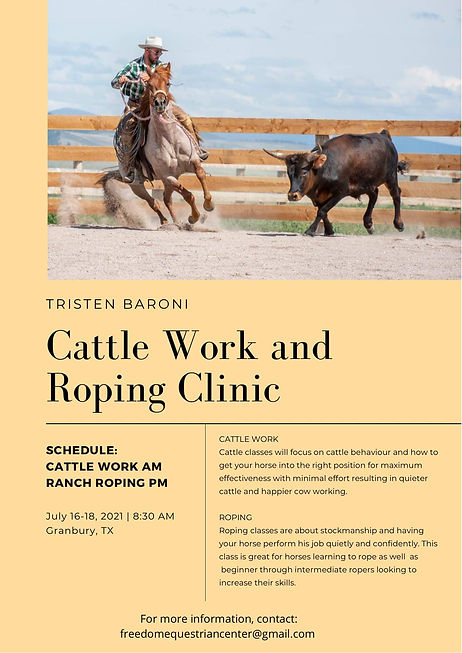 Cattle Work and Rpoing Clinic