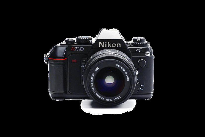 Nikon N2020 Film Camera w/ Nikkor AF 28-90mm Sigma