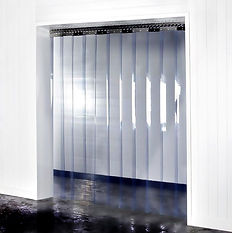 cortinas de plástico transparente