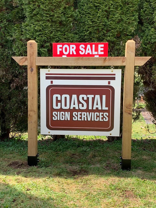 """4' Double Post - Fits 36"""" Wide Sign"""
