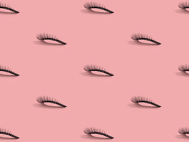 A pattern of separate false lashes on pi