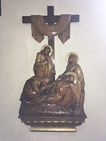 Jesus is laid is his mother's arms.jpg
