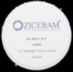 Диск диоксида циркония Ziceram 98.5mm