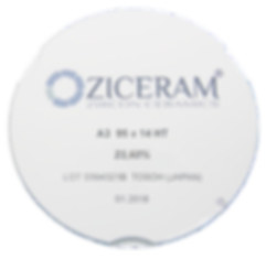 Диск диоксида циркония Ziceram 95mm