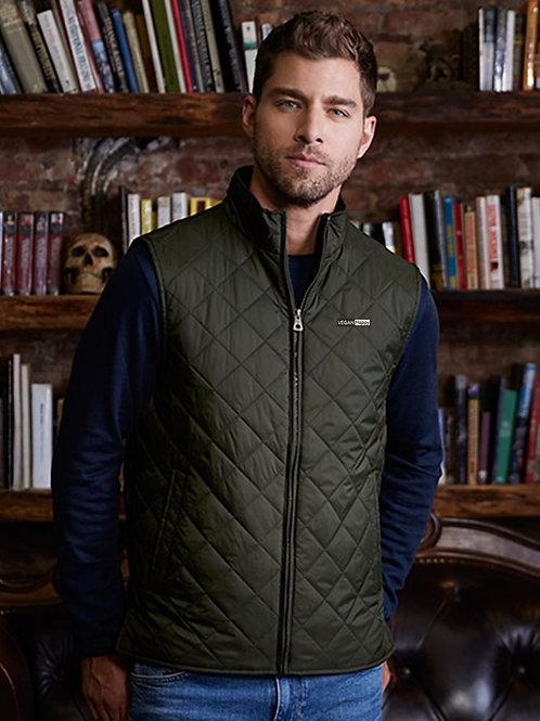 Vegan Men's Diamond Quilted Vest