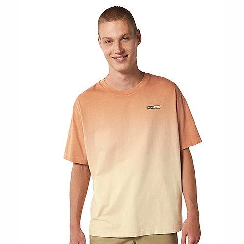 Vegan Fuser Unisex Dip Dye T-Shirt with subtle vegan logo from Vegan Happy Clothing