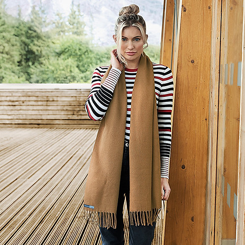 Vegan classic woven scarf in 5 colours unisex with subtle vegan logo from Vegan Happy Clothing