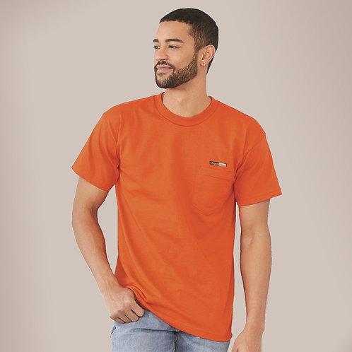 Vegan Men's Union Short Sleeve T-Shirt with Pocket with subtle vegan logo from Vegan Happy Clothing