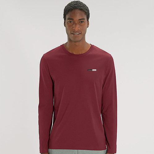 Vegan T-Shirt Men's Long Sleeve 100% cotton and PETA Approved, Long sleeve vegan t-shirt from Vegan Happy Clothing
