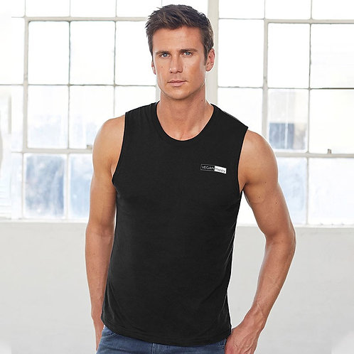 Vegan T-shirt Tank Top for Sports or Day Wear with Subtle Logo Design