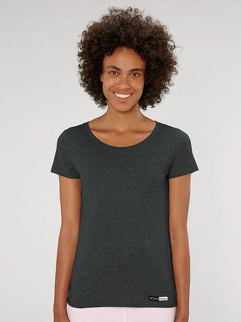 Vegan Women's Stella Lover T-Shirt with subtle vegan logo from Vegan Happy Clothing