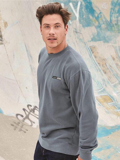 Vegan Unisex Midweight Pigment-Dyed Crewneck Sweatshirt - comfortable by VEGAN Happy