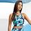 Vegan Woman's TriDri® Performance Mid-length Bra (low impact) with subtle vegan logo from Vegan Happy Clothing