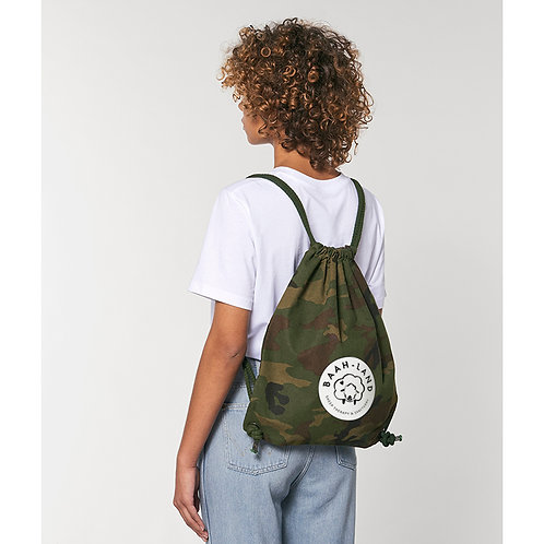 Camo Woven Canvas Drawstring Bag (Adult Size)