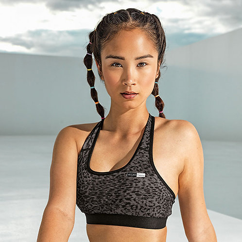 Vegan Gym Bra Crop Top - Women's Animal Print Sports Bra in three prints