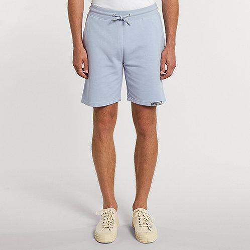 Vegan Trainer Unisex Terry Shorts in serene blue with subtle vegan logo from Vegan Happy Clothing