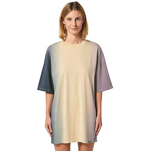 copy of Vegan Dress - Dip Dye Twister Oversized T-Shirt Dress with subtle vegan logo from Vegan Happy Clothing