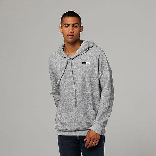 Vegan Hoodie fleecy duded unisex pullover hoodie in 5 colours from Vegan Happy Clothing shown in Athletic Heather