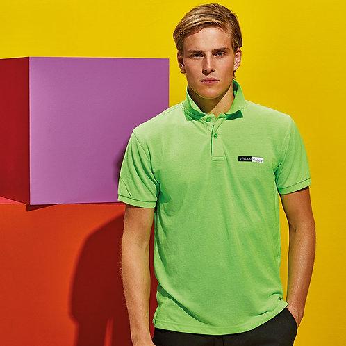 Vegan Polo Shirt Men's With Subtle Logo Design- 100% Cotton