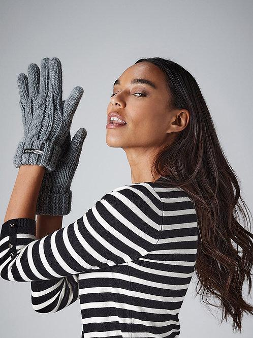 Vegan Cable Knit Melange Gloves Snug by VEGAN Happy