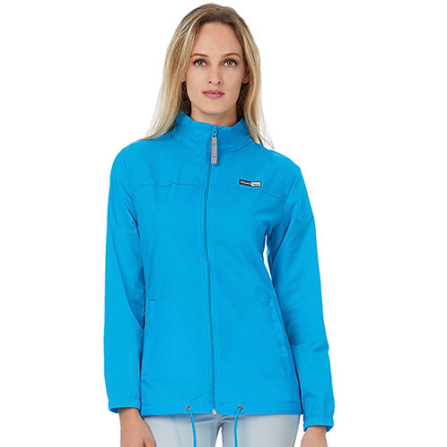 Vegan Women's Sirocco Lightweight Jacket with subtle vegan logo from Vegan Happy Clothing