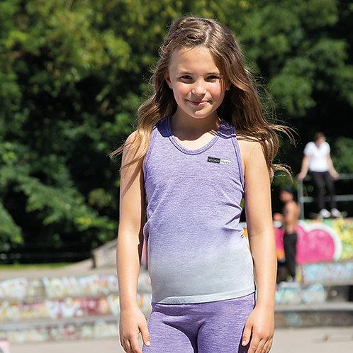 Vegan Gymwear - Kid's Seamless Ombré Workout Vest 100% vegan gym wear for kid's