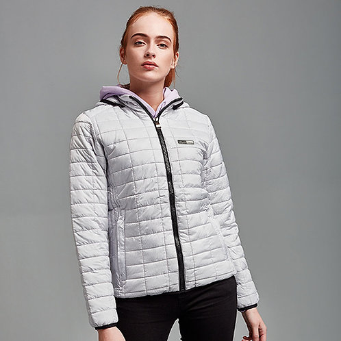 Vegan Women's Puffa Honeycomb jacket from Vegan Happy Clothing in white