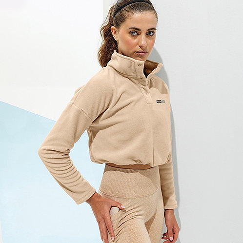Vegan Women's TriDri Cropped Fleece in 5 colours with subtle vegan logo from Vegan Happy Clothing