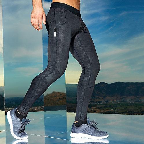Vegan Gym Leggings Men's TriDri Training Sports Wear Gym Leggings in camouflage black from Vegan Happy Clothing
