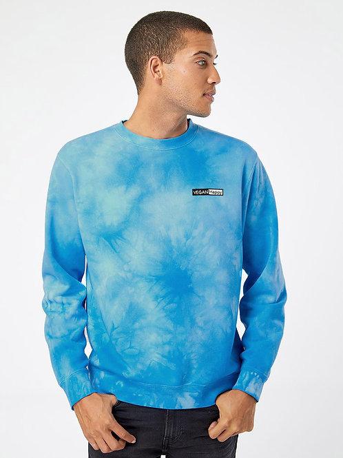 Vegan Unisex Midweight Tie-Dyed Sweatshirt - color by VEGAN Happy