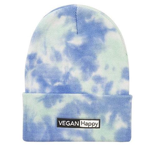 "Vegan Beanie Tie-Dyed Knit 12"""