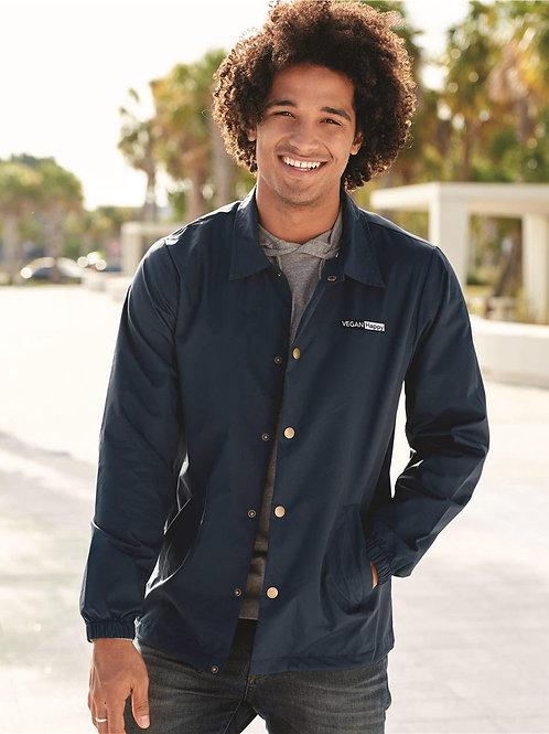 Vegan Water-Resistant Windbreaker Coach's Jacket