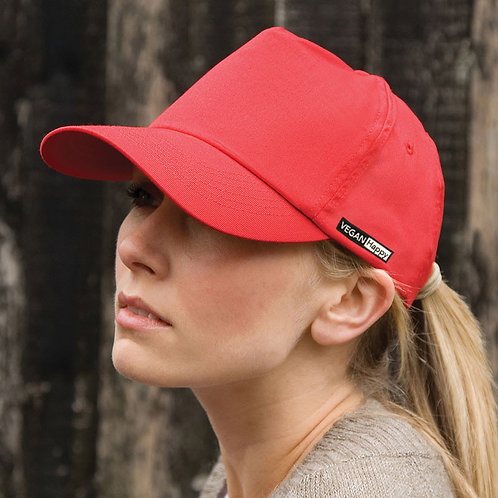 Vegan baseball cap with subtle vegan logo from Vegan Happy Clothing
