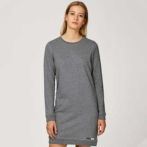 Vegan Dress Vegan is Love Lounge Dress from Vegan Happy Clothing in heather grey, PETA Approved