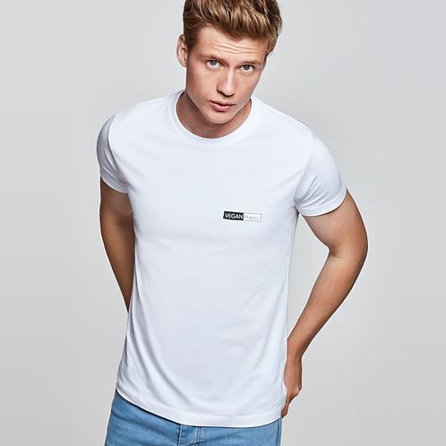 Vegan T-Shirt Men's White T-Shirt from VEGAN Happy