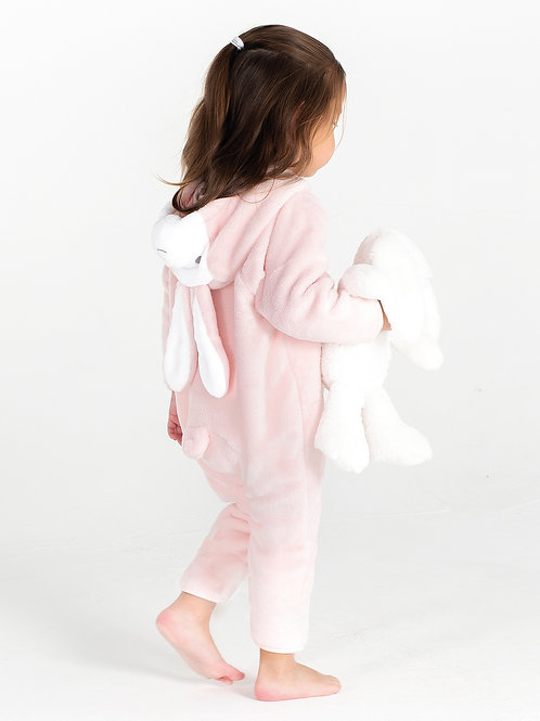 Vegan Baby Rabbit All-in-One with subtle vegan logo from Vegan Happy Clothing