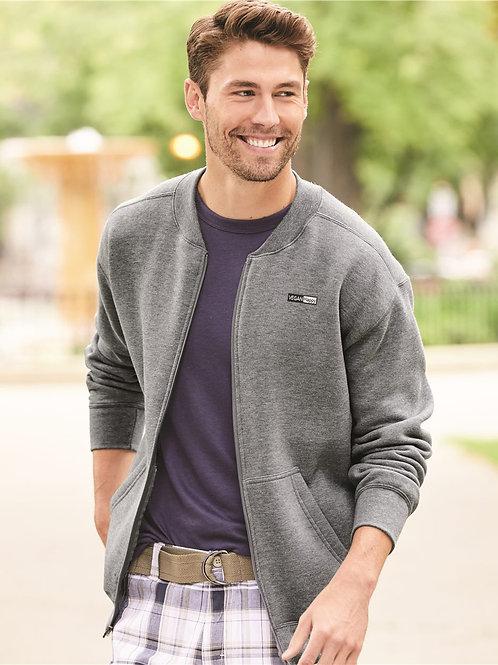 Vegan Men's Hammer Fleece Full Zip Sweatshirt Jacket with subtle vegan logo from Vegan Happy Clothing