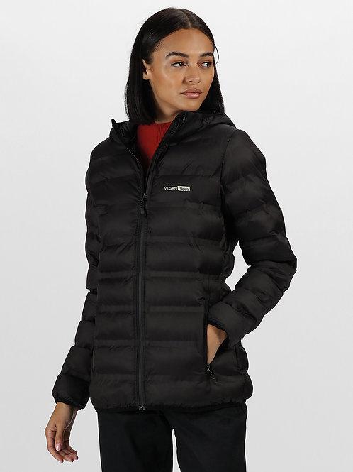 Vegan Puffa Jacket - Women's X-Pro Icefall II Thermal Seamless Jacket with subtle vegan logo from Vegan Happy Clothing