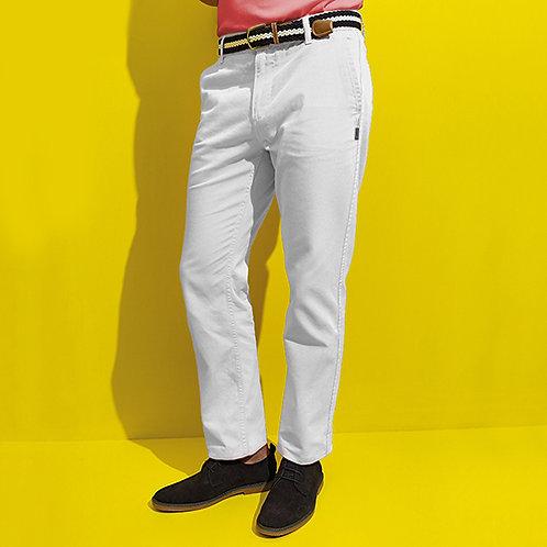 Vegan Trousers Men's Classic Chino's Vegan men's chino's shown in white, 100% cotton