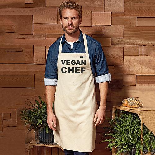 Vegan Apron for vegan chef's 100% cotton from Vegan Happy Clothing