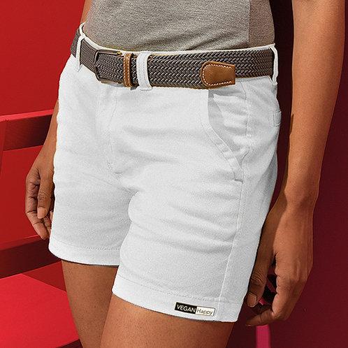 Vegan Shorts Women's Chino Shorts in white from Vegan Happy
