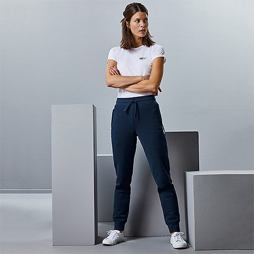 Vegan Women's joggers with subtle vegan logo to near pocket from Vegan Happy Clothing