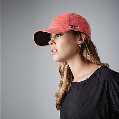 Vegan Seamless Baseball Cap in 4 colours with subtle vegan logo from Vegan Happy Clothing