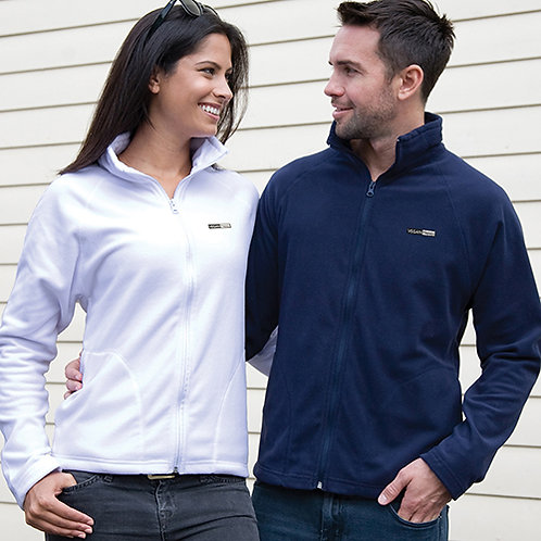 Vegan Unisex Core Microfleece Jacket in 8 colours with subtle vegan logo from Vegan Happy Clothing