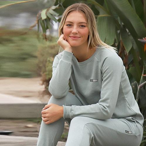 Vegan Women's California Wave Crewneck Sweatshirt