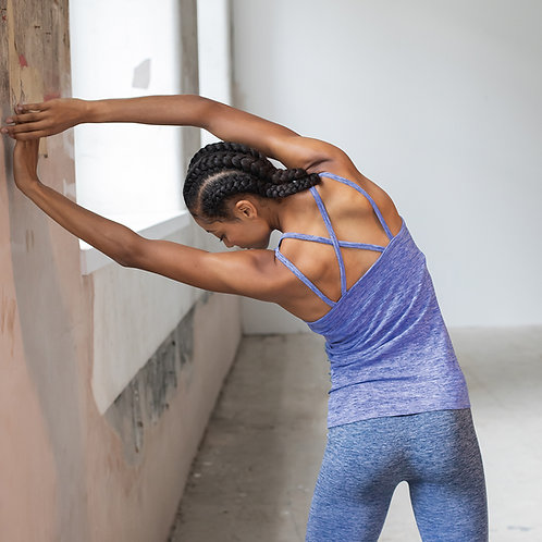 Vegan Women's Seamless Strappy Workout Vest