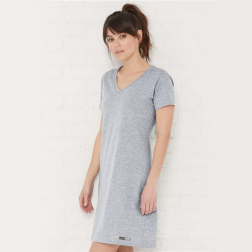 Vegan Women's V-Neck Fine Jersey Coverup with subtle logo to the hem from Vegan Happy Clothing
