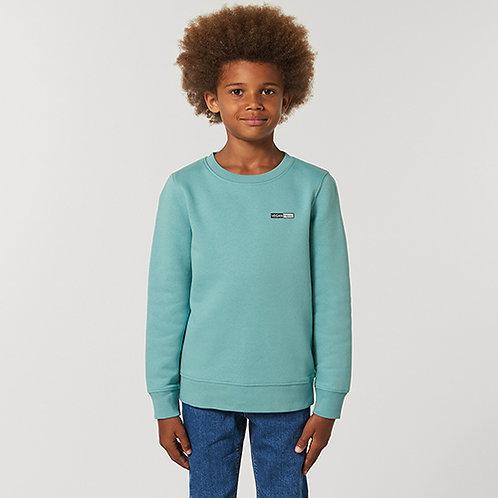 Vegan Kids Changer Sweatshirt from Vegan Happy Clothing with subtle vegan logo for kids